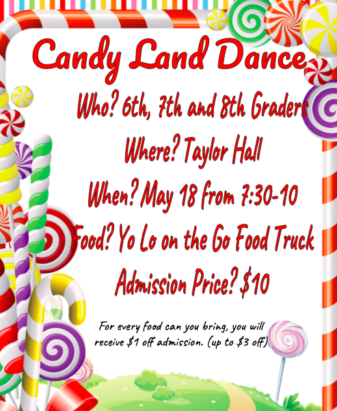 Candyland Dance Flyer